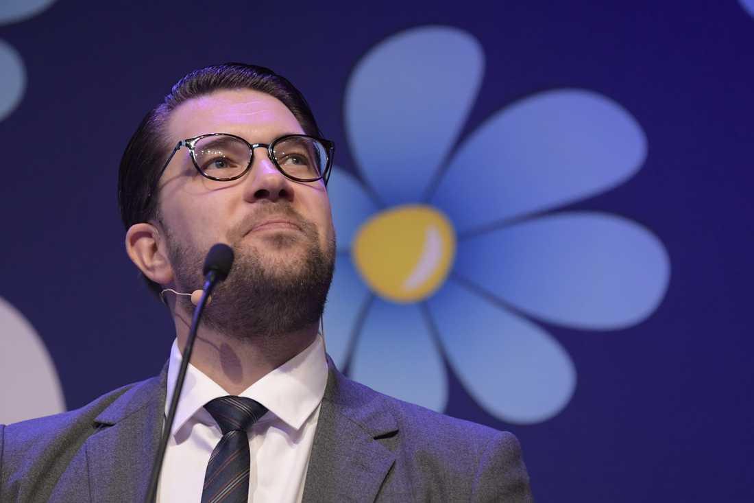 Sverigedemokraternas partiledare Jimmie Åkesson. Arkivbild.