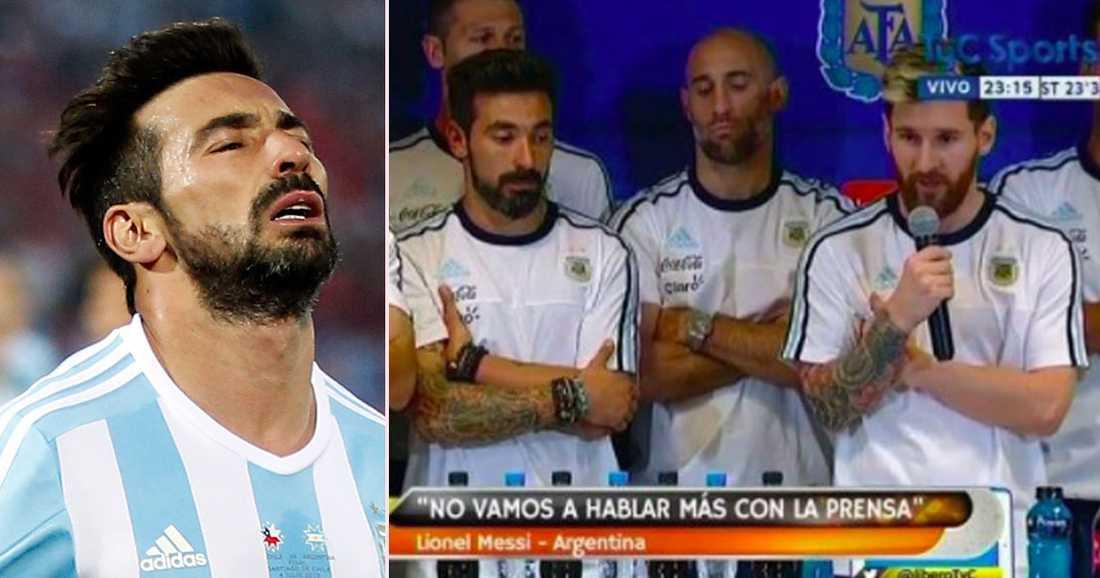 Messi tog till orda för hela landslagets skull.
