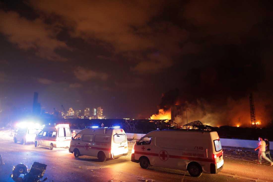 Tusentals människor har skadats i explosionerna i Beiruts hamn.