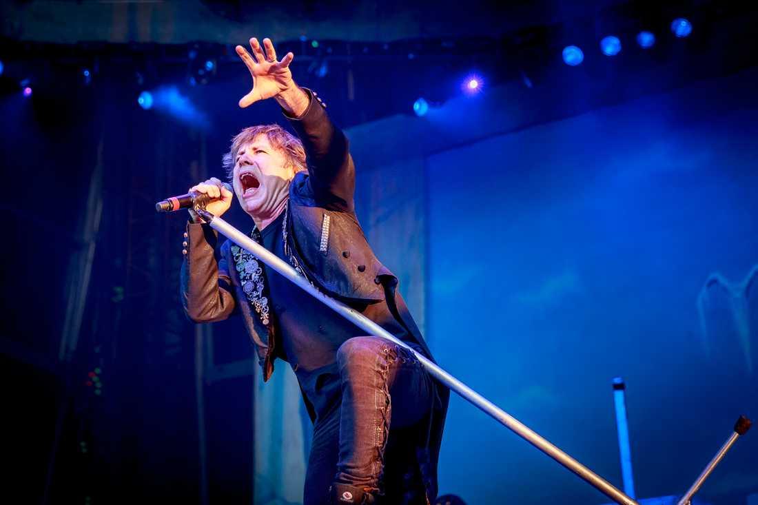 """Iron Maiden"" med sångaren Bruce Dickinson"