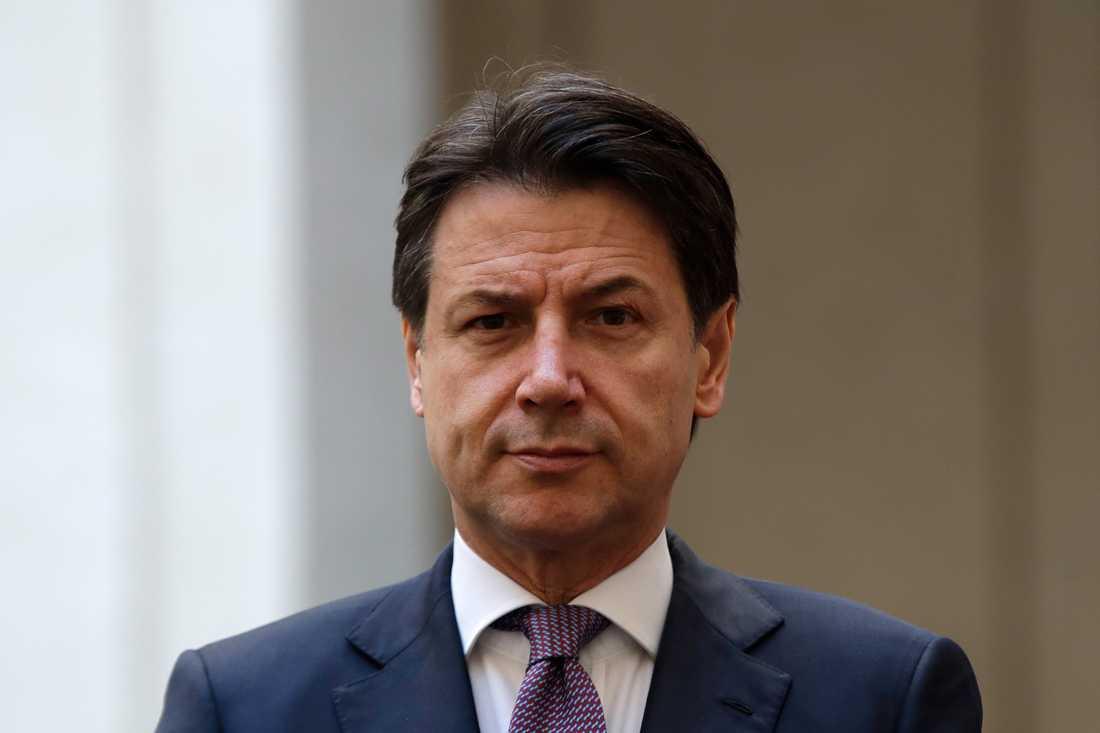 Giuseppe Conte har fullt sjå med att hålla ihop Italiens regeringspartier. Arkivbild från den 23 januari.