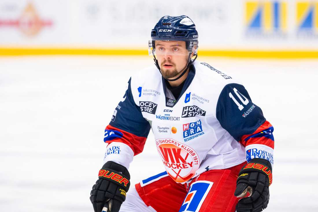 Marcus Ersson i Västervik under en lånesejour förra säsongen. I kväll var han tillbaka.