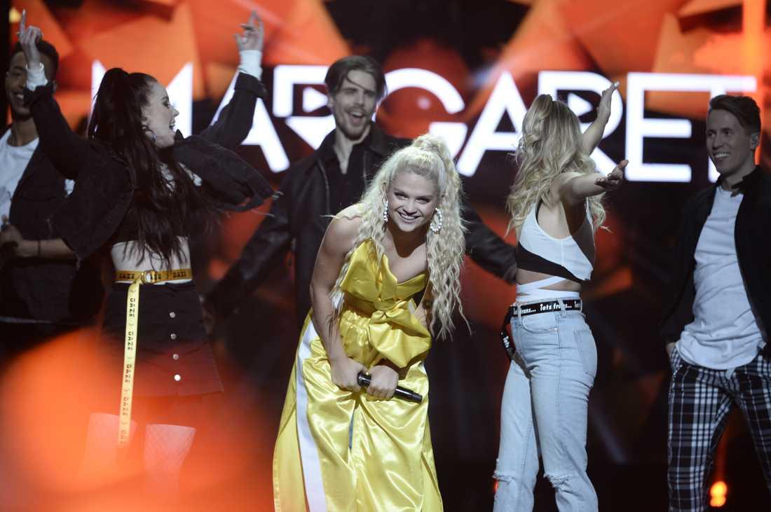Margaret tog sig till final i Melodifestivalen 2018.