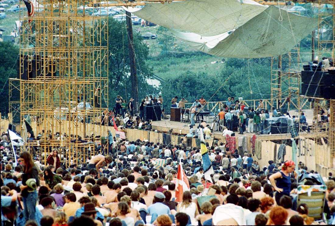 Woodstock 1969. Arkivbild.