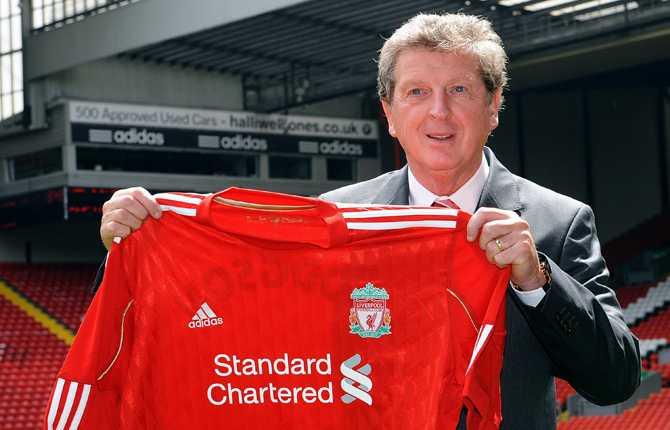 ...och med Liverpools matchtröja.