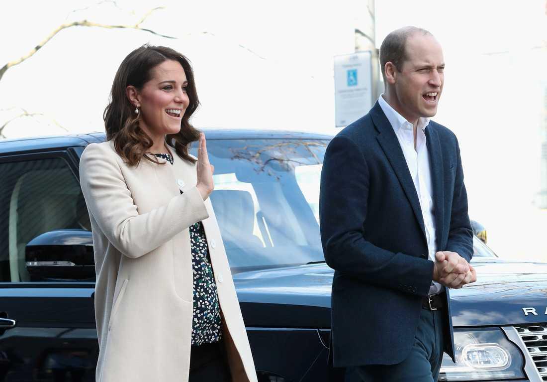 Prins Willian och Kate.  Arkiv mars 2018