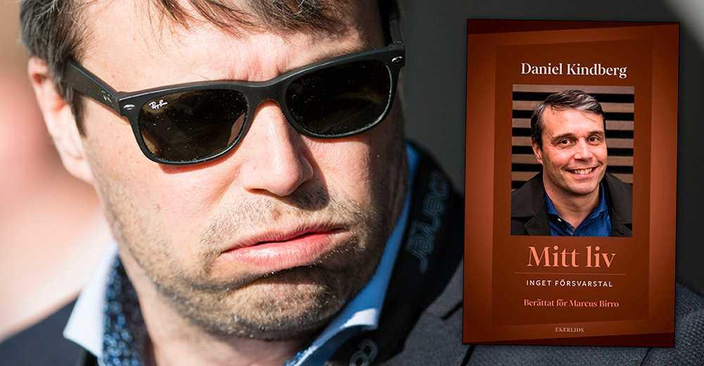 """Daniel Kindbergs nya bok """"Mitt liv – inget försvarstal""""."""