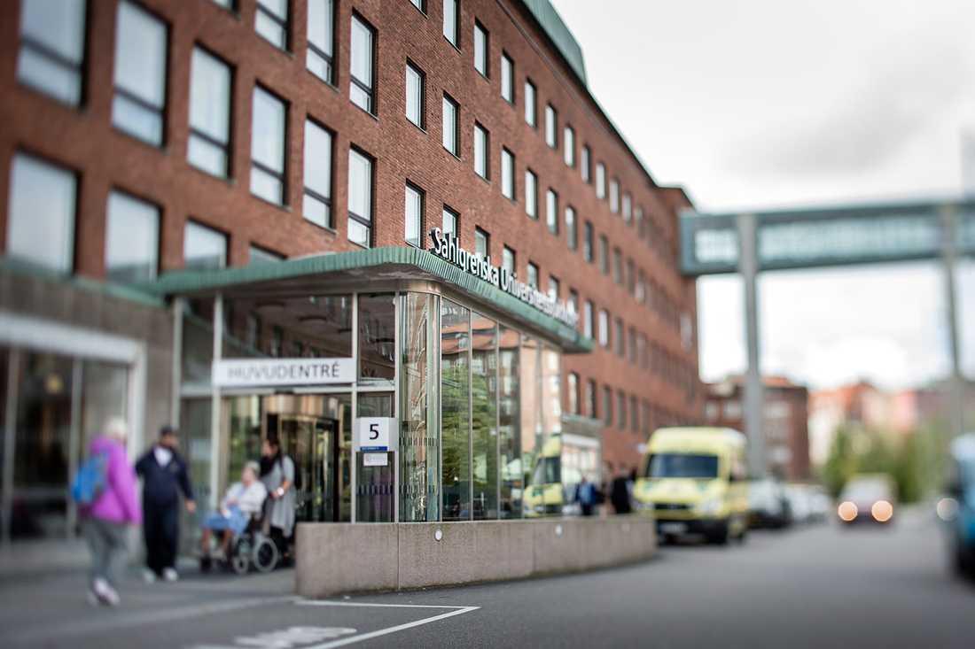 Sahlgrenska universitetssjukhuset i Göteborg.
