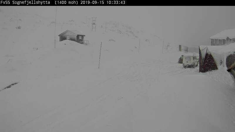 I Sognefjellet ligger snön tjock.