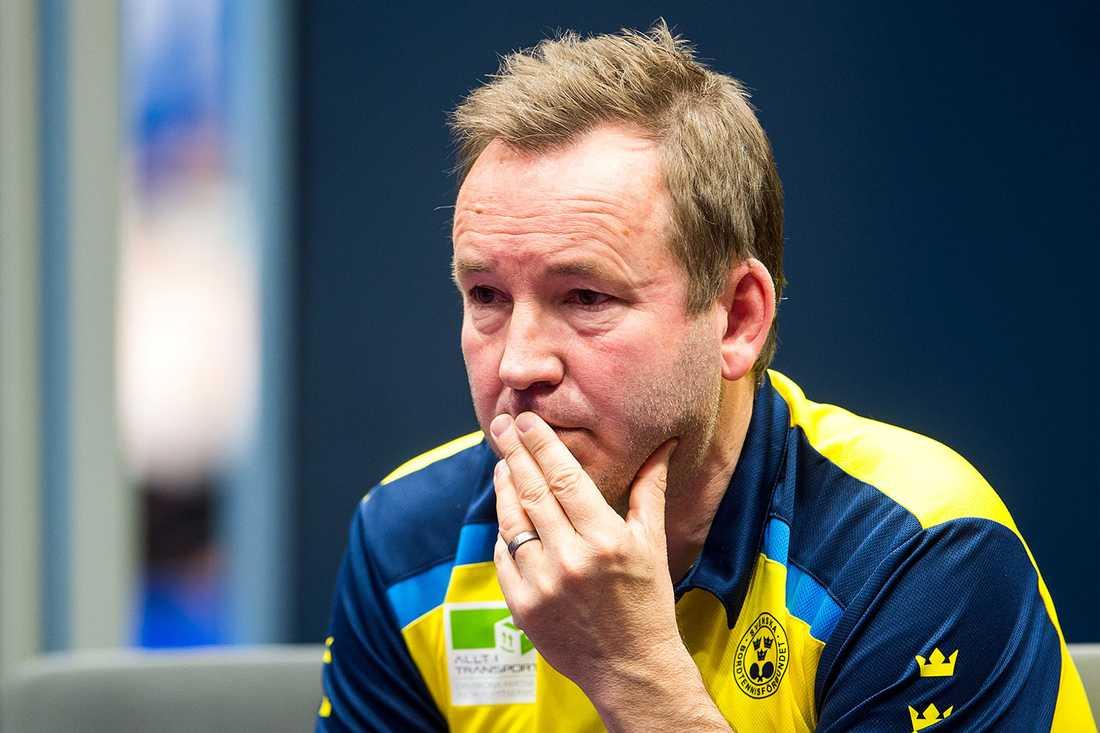 Förbundskaptenen Peter Sartz.