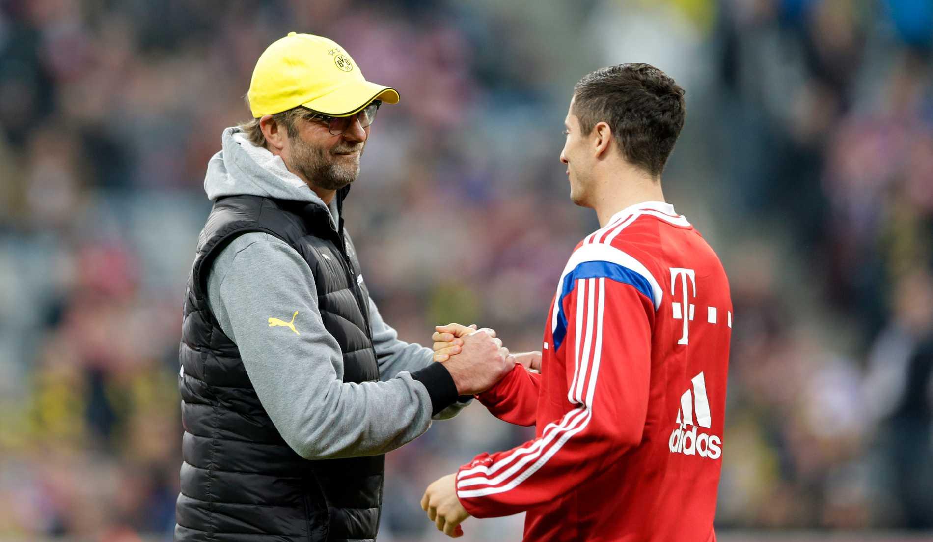 Jürgen Klopp och Robert Lewandowski.