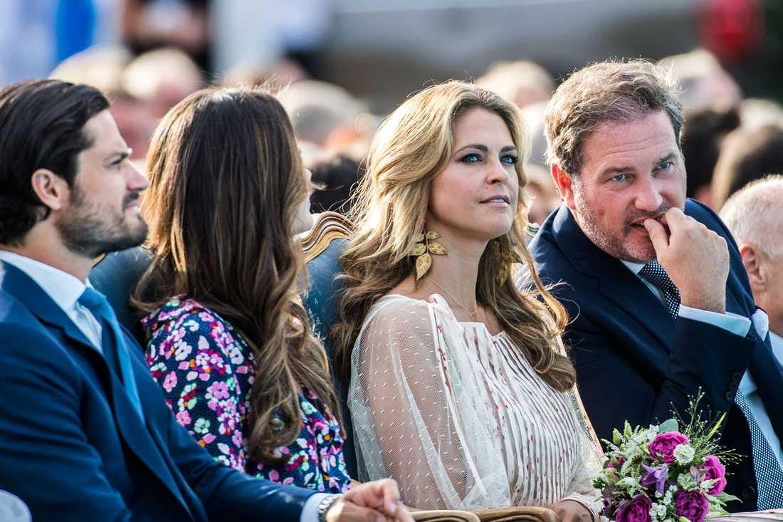 Prinsessan Madeleine och Chris O'Neill under Victoriadagen tidigare i år.
