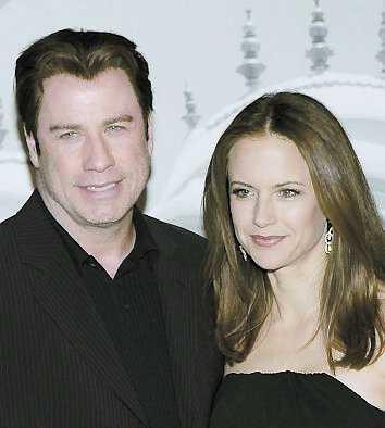 John Travolta och frun Kelly Preston.