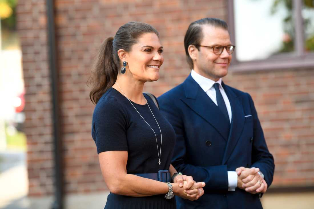 Kronprinsessan Victoria och Prins Daniel vid ett fototillfälle i november förra året. Arkivbild.