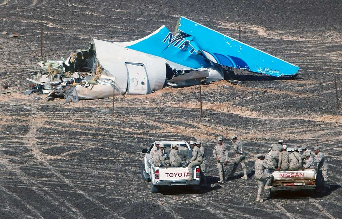 224 människor dödades i flygkraschen i Sinaiöknen.