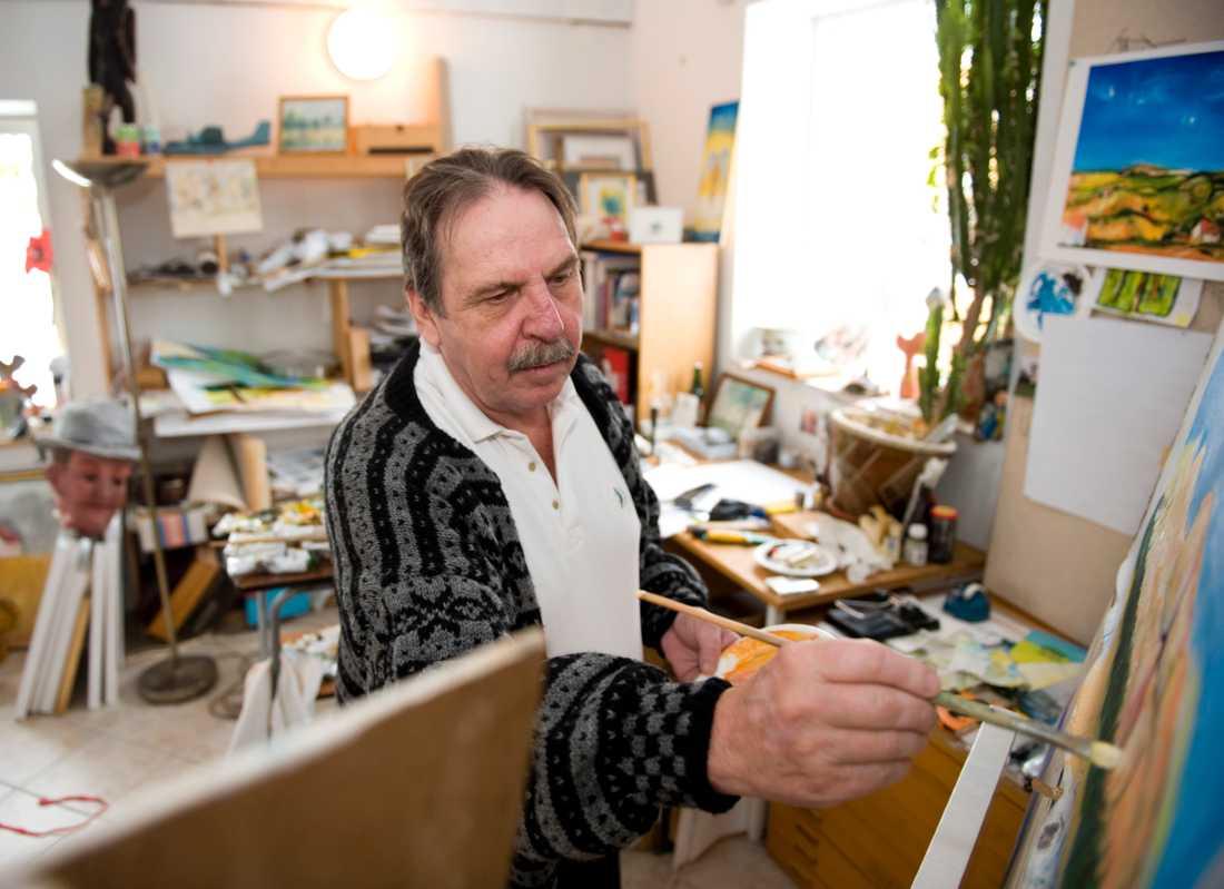 """Hemma hos Janne """"Loffe"""" Carlsson år 2010."""