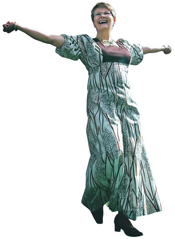 LYCKAS Centerpartiledaren Maud Olofsson lyckas i sitt klädval enligt kläddesignern Camilla Thulin.