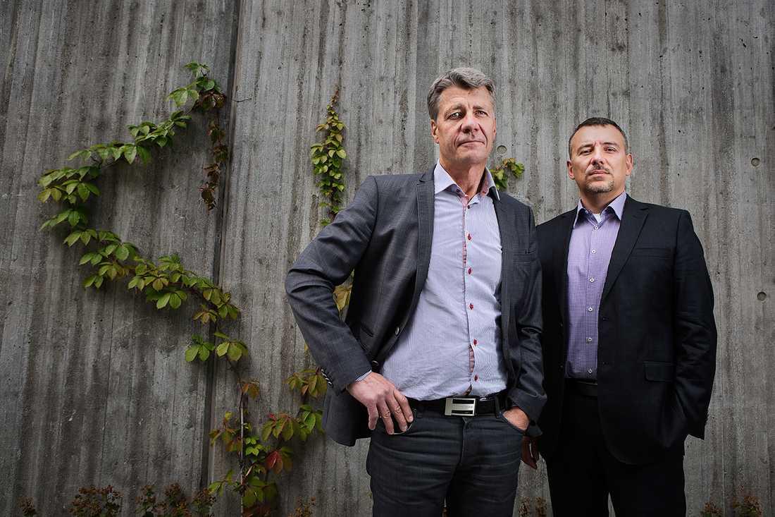 Anders Kassman, operativ chef på Säpo och Daniel Larsson, chef för NCT, Nationellt centrum för terrorbedömning.