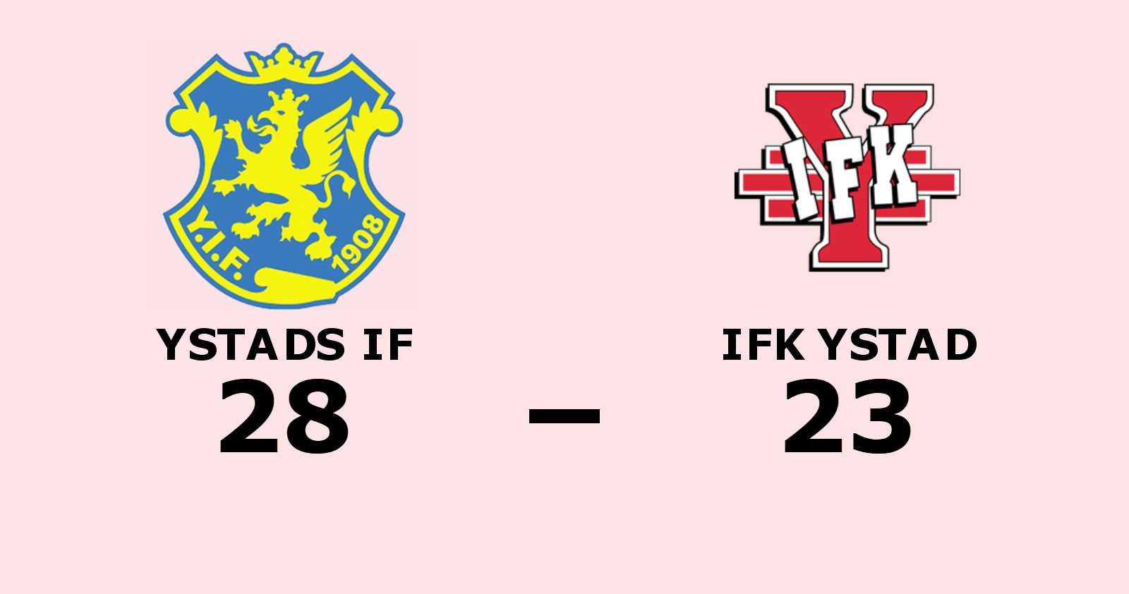 Tuff match slutade med seger för Ystads IF mot IFK Ystad