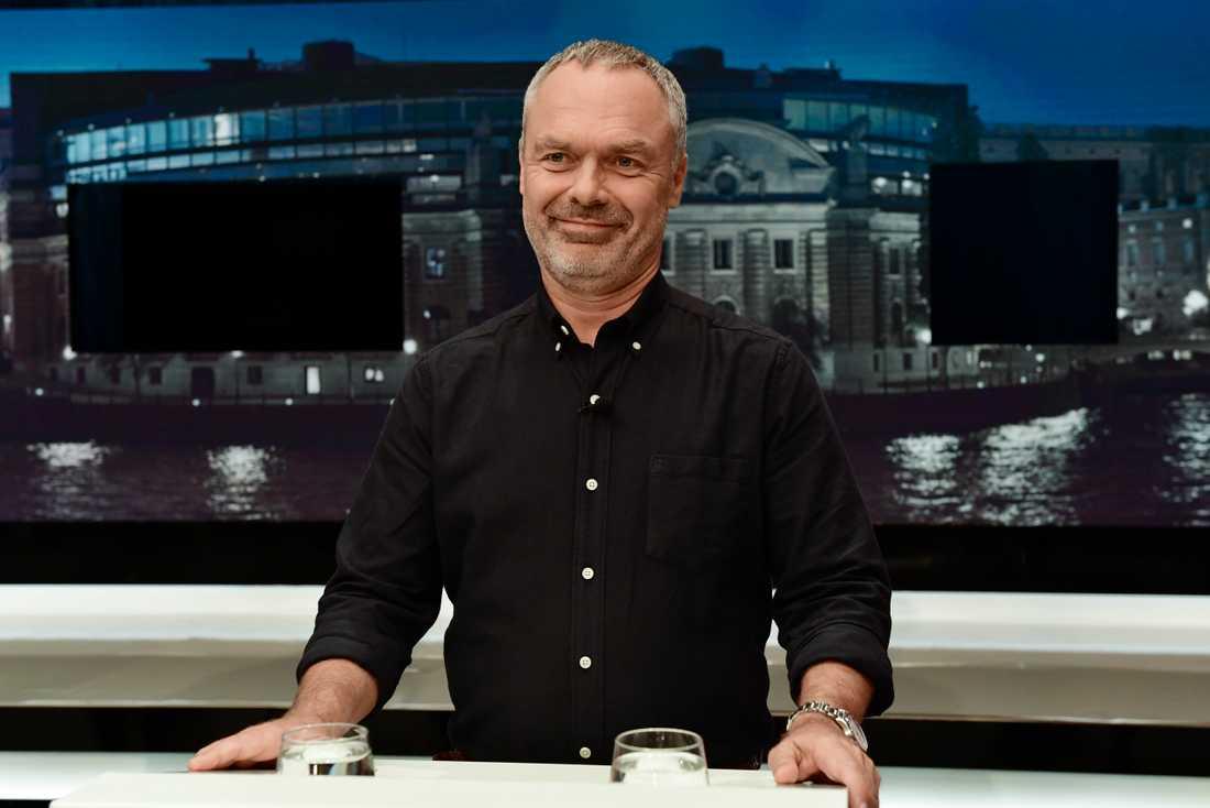 Jan Björklund (L), strax innan debatten.