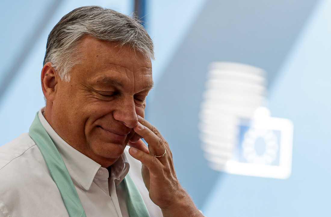 Ungerns premiärminister Viktor Orbán öppnar landets uteserveringar från och med lördagen då 3,5 miljoner invånare nu vaccinerats mot covid-19. Arkivfoto.