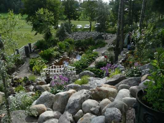 Lilla Madeira trädgård i Lövånger, Västerbotten.