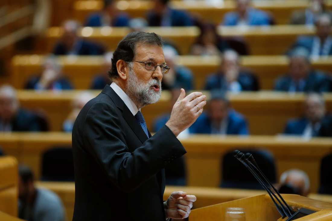 Spaniens premiärminister Mariano Rajoy (PP) talade inför senatens omröstning om att upphäva Kataloniens självstyre.