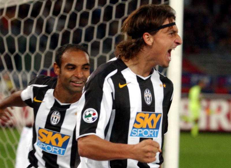 Ibrahimovic spelade i Juventus 2004–2006.