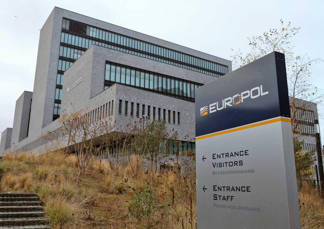 Europols högkvarter i Haag i Nederländerna. Arkivbild.