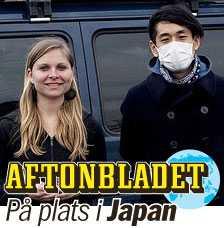 Aftonbladets utsända Elin Lindqvist och Yoshi Fukuda är på plats i Japan.