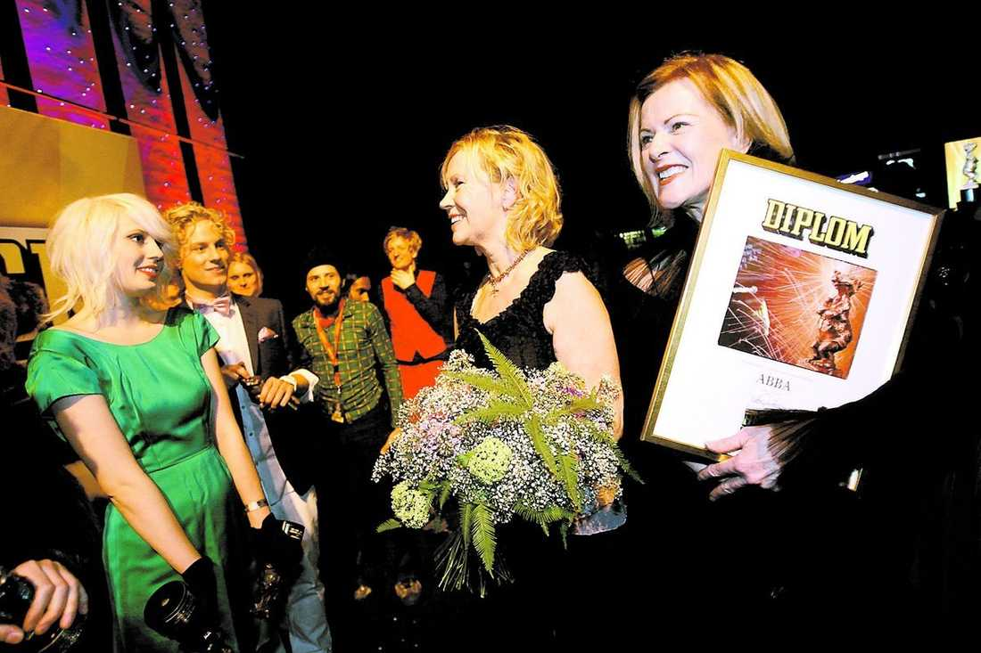Amanda Jenssen fick träffa de två legendarerna.