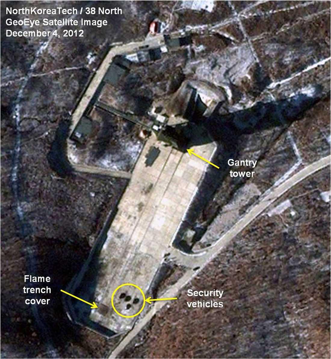 En av Nordkoreas baser för långdistansraketer.