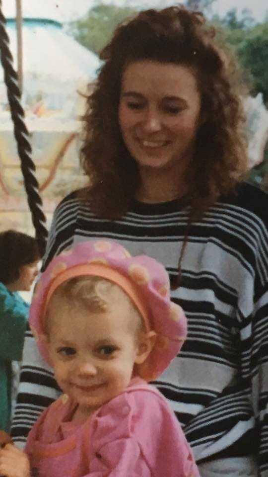 Bea Chrawall tillsammans med dottern Ida.