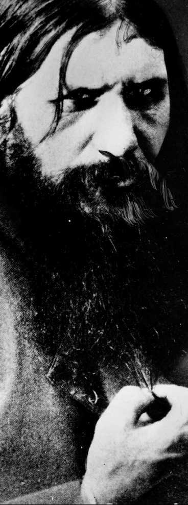 """Grigorij Rasputin - """"gudsdåren"""" som mer eller mindre tog över styret av Tsarryssland."""