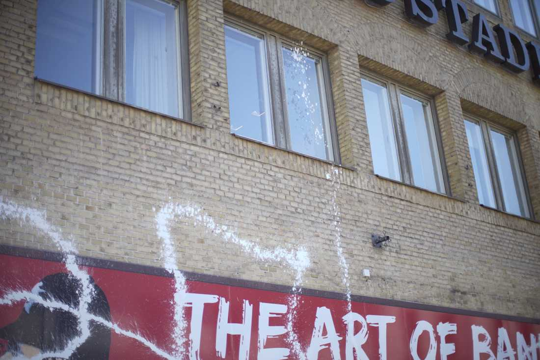 Banksy exhibition in Gothenburg vandalized.