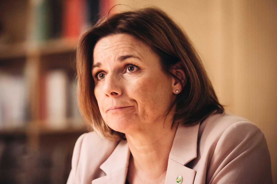 Isabella Lövin tycker att M-KD-budgeten skickar en dålig signal.