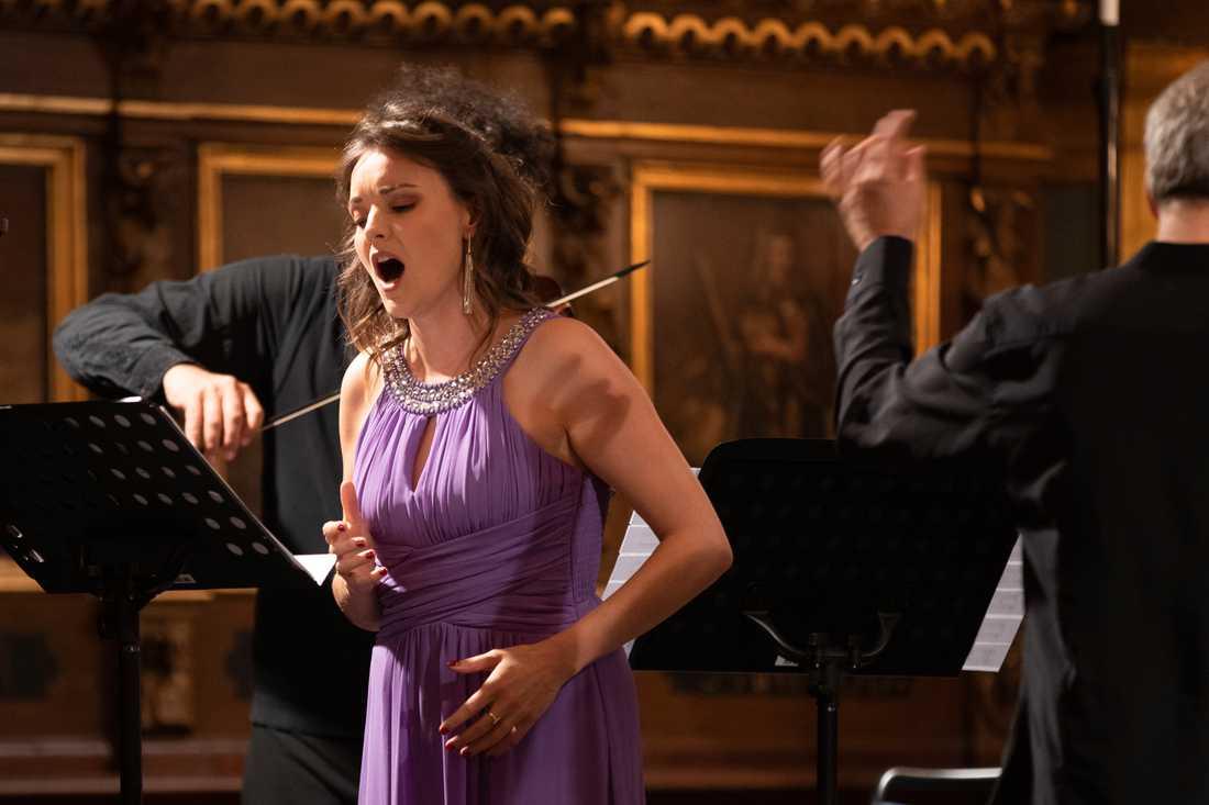 Sopranen Giulia Bolcato sjunger Alessandro Stradella i Tyska kyrkan.
