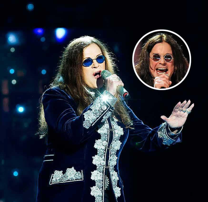 Py Bäckman i Melodifestivalen 2010 – inte helt olik Ozzy Osbourne.