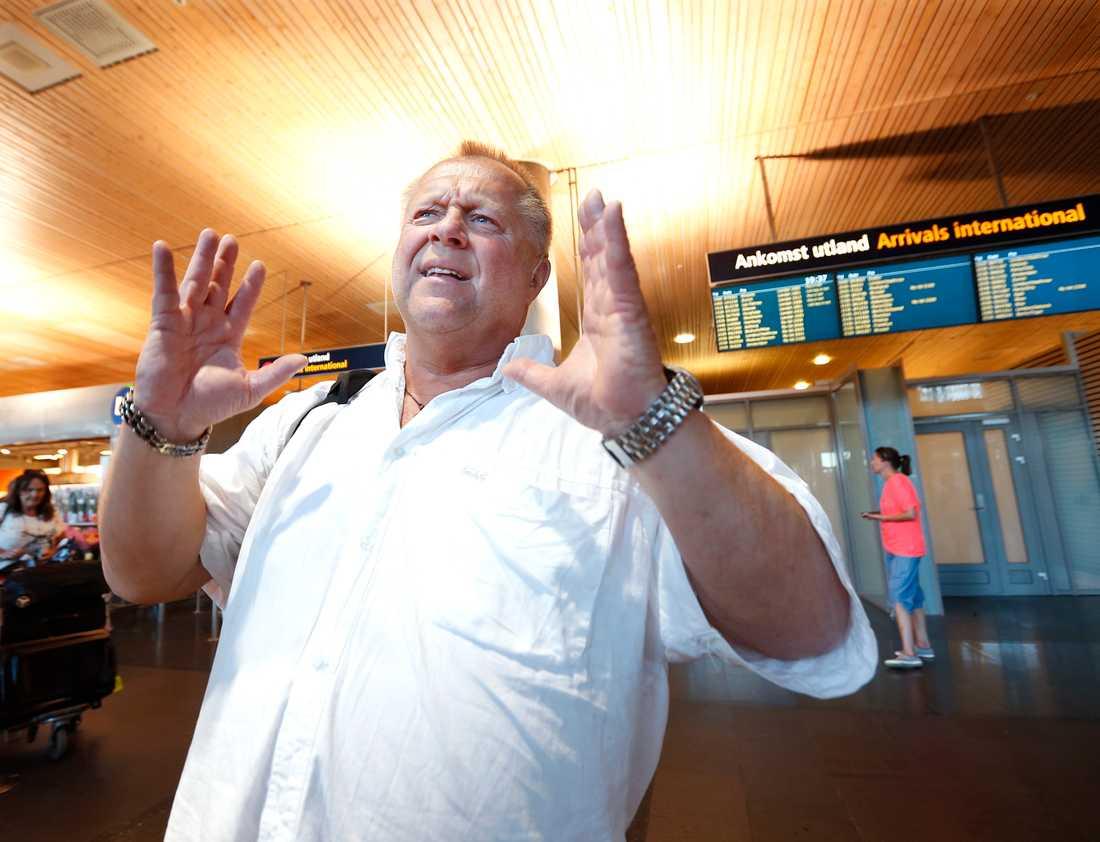 Lars Petter Andresen skulle bara resa från Oslo till Stockholm – men råkade gå på planet till Alicante.