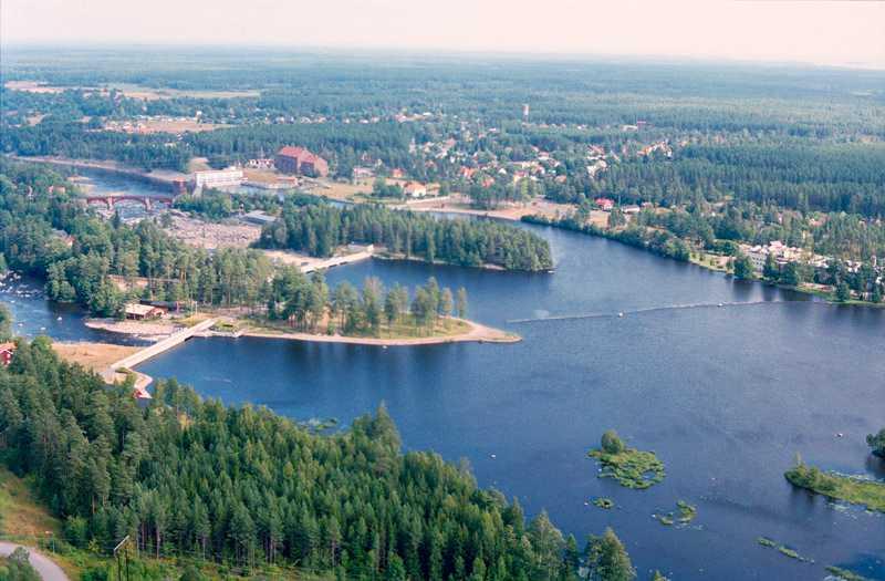 Flygfoto över Älvkarleby.