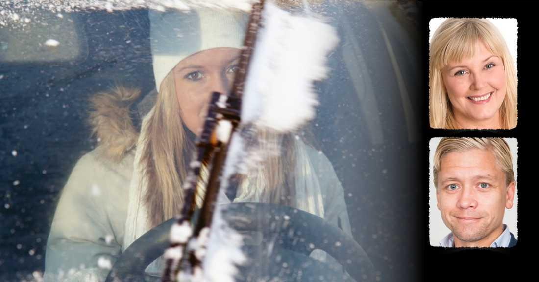 Kvinnor kör säkrare, låt dem sitta bakom ratten, skriver Marie Nordén, och Erik Lindham. Män löper högre risk för att vara inblandade i olyckor än kvinnor, även när hänsyn tas till att män i genomsnitt kör mer.