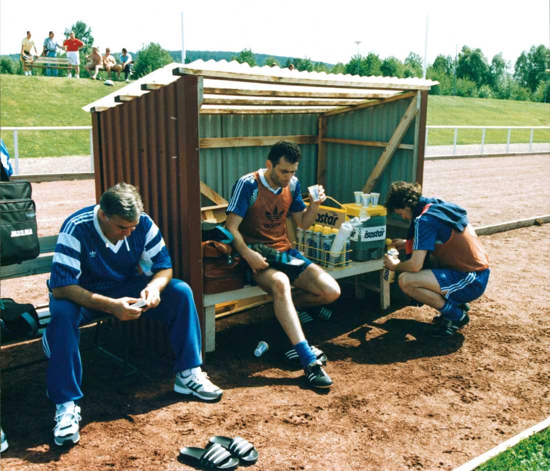 Budimir Vojacic, mitten, var en av spelarna i laget.