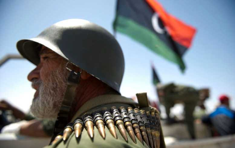 En av de libyska rebellerna.