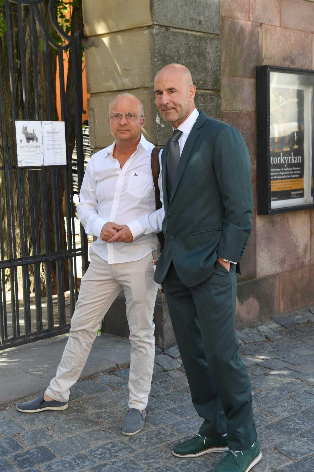 Jonas Gardell och Mark Levengood.