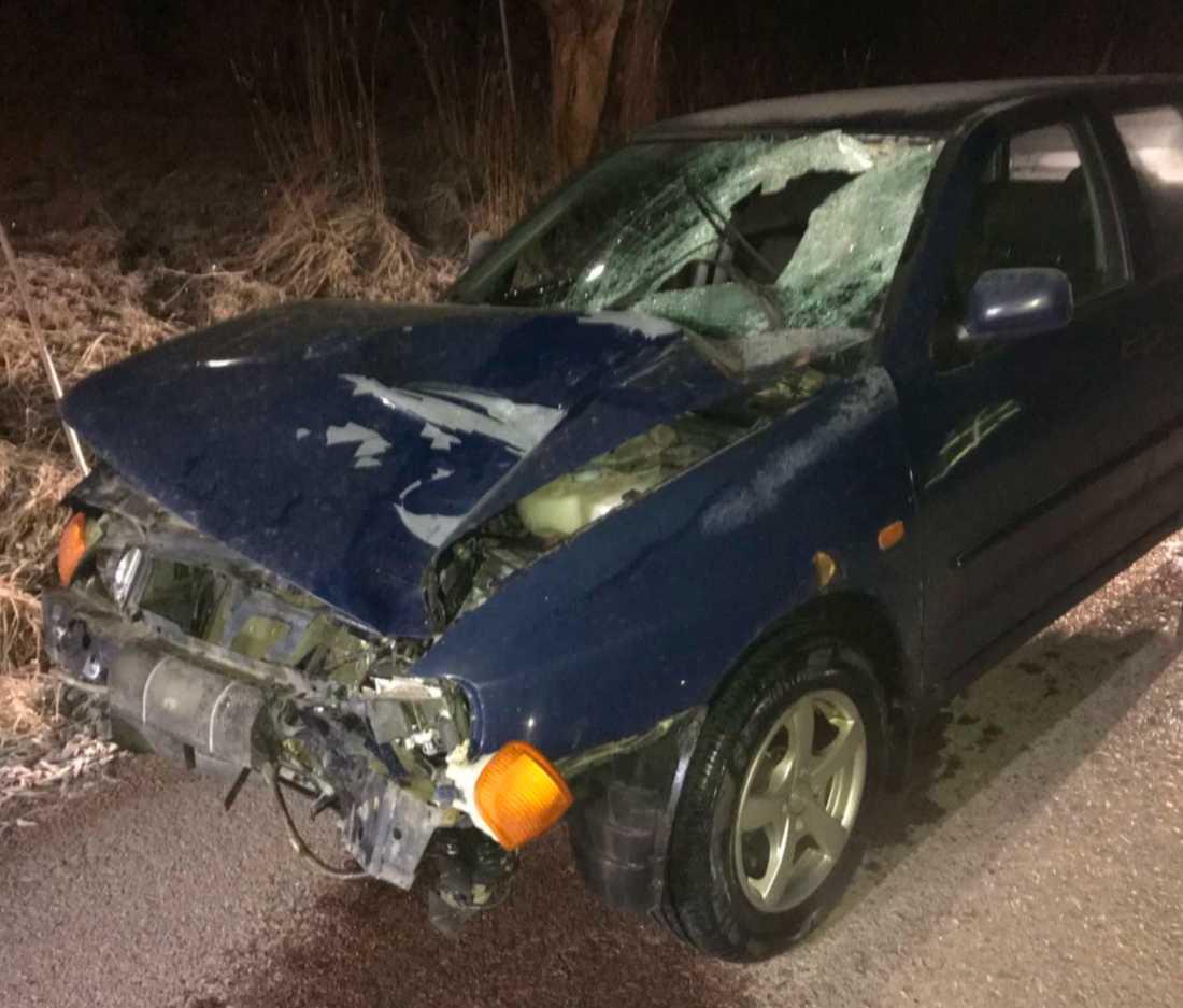 49-åringen som körde bilen är dömd 24 gånger tidigare.