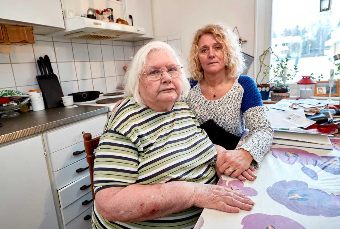 Ulla-Britt andersson i Rydaholm och hennes goda man Marie Peraic.
