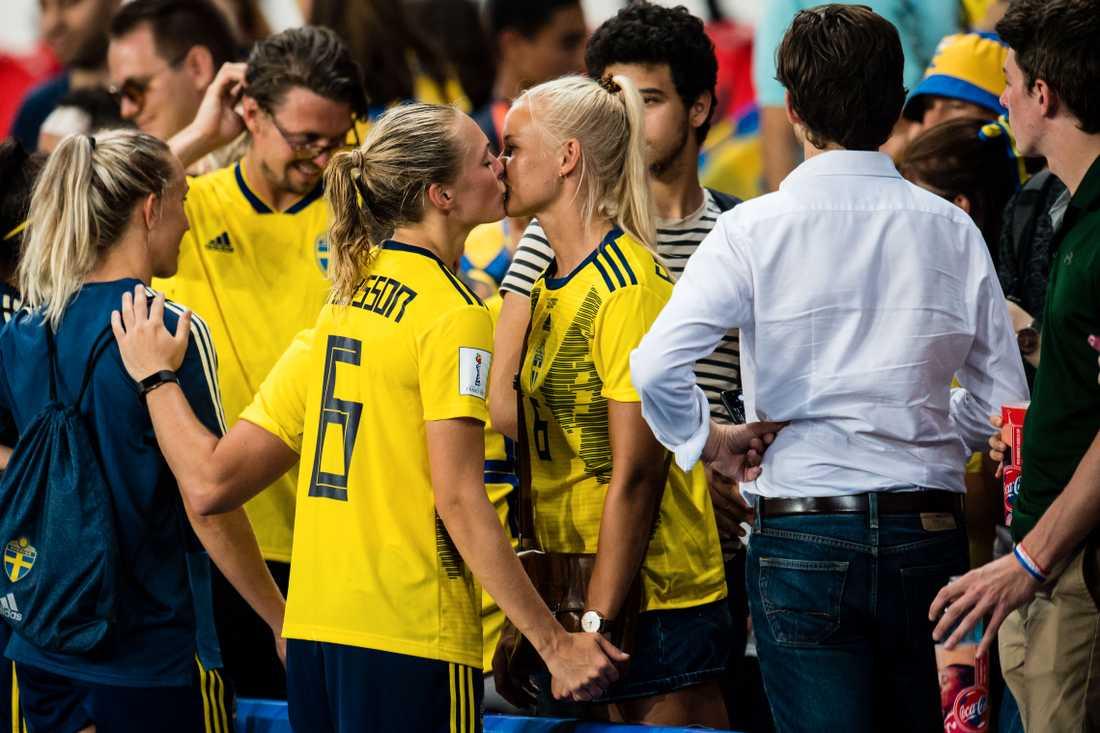 Magdalena Eriksson hade stöd på läktaren under sommarens VM.