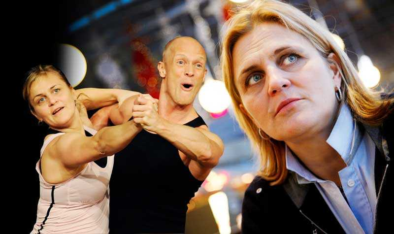 Tina Thörner och danspartnern Tobias Karlsson.
