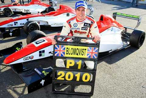 Tom Blomqvist var som 16-åring yngst genom tiderna att vinna brittiska Formel Renault-serien.