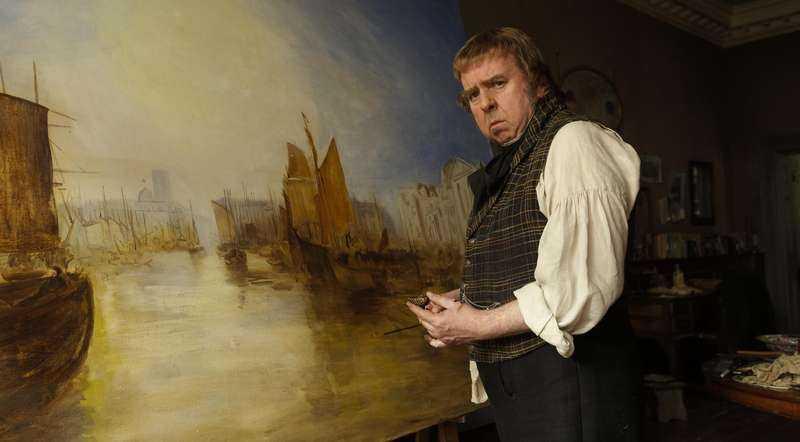 Timothy Spall fångar William Turners som en grinigt grymtande gubbe.